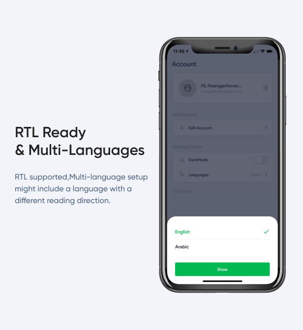RTL Ready & Multi-Languages